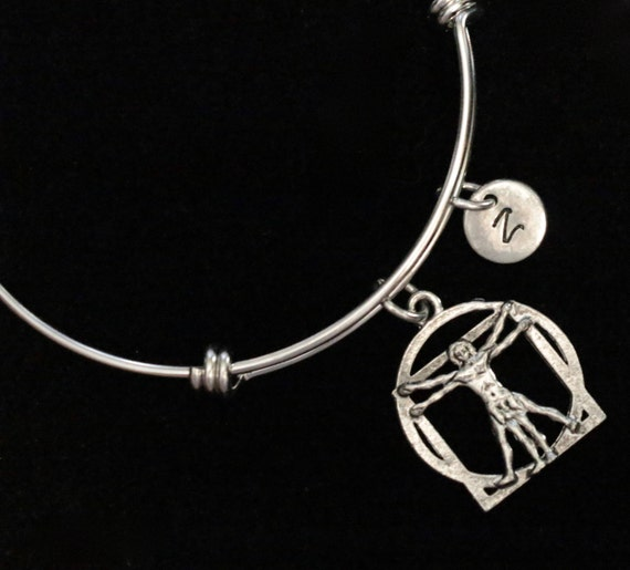 Davinci Charm Bracelet: Vitruvian Man Charm Bracelet Leonardo Da Vinci Charm