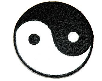 Wholesale Patch Spring Sale, Shirt Patch, Décor Ying Yang Iron on Patch