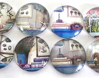 8 Nautical Glass 20mm dome cabochons