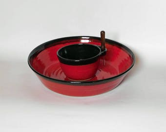 Red and Black Serving Bowls
