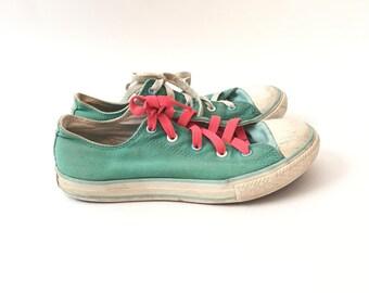 Vintage Teal Converse Low Top Sneakers
