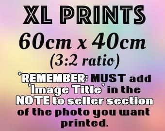 EXTRA LARGE PRINTS 60x40cm (3:2 Ratio) - Landscape or portrait orientation (dependent on the image) - see below for details