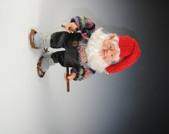 """Nisse/Tomte/Gnome Doll/ Elf Doll/""""Carson Goes Snowshoeing"""""""
