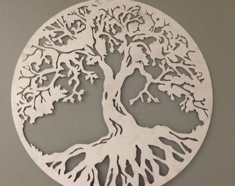 Tree of Life industrial metal wall art 24