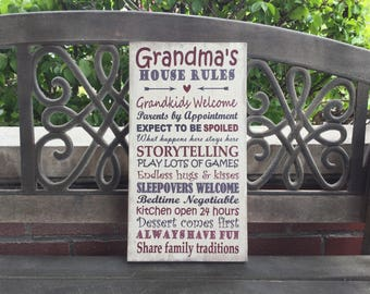 Personalized Grandparents Canvas Gift, Grandma & Grandpa Custom Canvas, Distressed Tan background, Grandparents or MOTHERS DAY GIFT, Nana