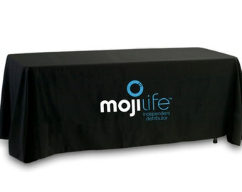 SALE- MojiLife Tablecloth - Full Color Logo