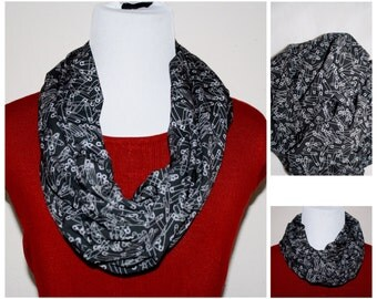 Safe person, safety pin Extra Long Infinity scarf