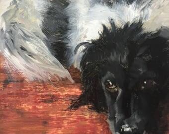 Pet portrait commission, original oil painting on canvas