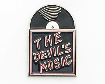 The Devils Music Vinyl Record Enamel Pin