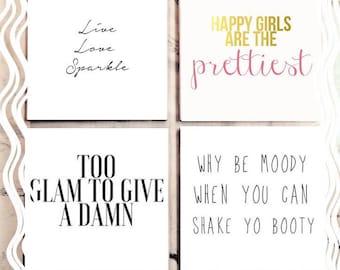 Pretty Girls Tile Coaster Set