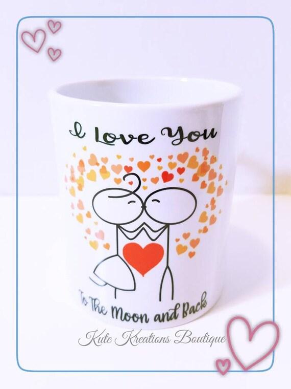 I Love You To The Moon and Back/I Love You Mug.