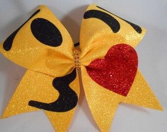 Cheer Bow KISS Emoji by Blingitoncheerbowz