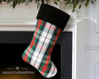Plaid Christmas Stocking, Plaid Stocking, Plaid Christmas, Tartan Plaid Christmas, Tartan Plaid Christmas Stocking, Tartan Stocking