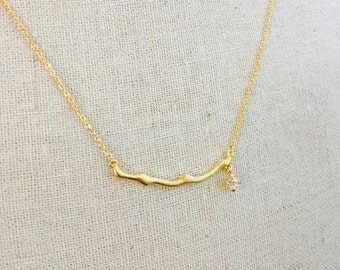 Gold Branch Simply Stated Necklace
