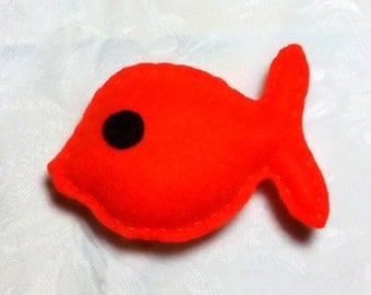 Catnip Fish, Cat Toy, Felt Fish, Felt Cat Toy, Catnip, Toy Fish, Kitten Toy, Orange, Catnip Toy