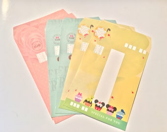 Kawaii Disney envelope set