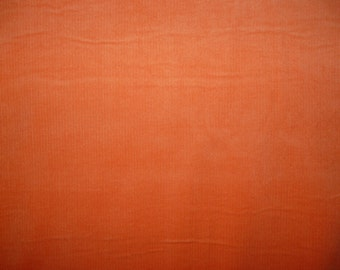 Fabric - Orange needlecord fabric
