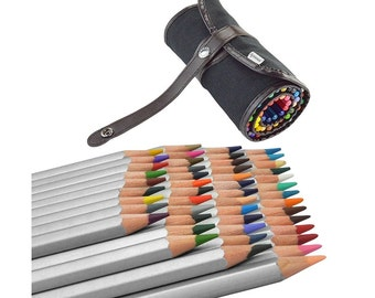 Assorted 48 Colored Pencils With Roll Up Storage Wrap, Drawing Art Supplies with Travel Roll Up Bag For Artist On The Go, Perfect Art Gift