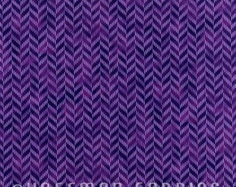Zig and Zag Purple N7700-14 by Hoffman California Cotton Fabric Yardage