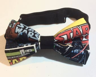bow tie made from fabric that has star wars darth vader pretied band clip on unique bow ties for men pre tied empire strikes back bowties