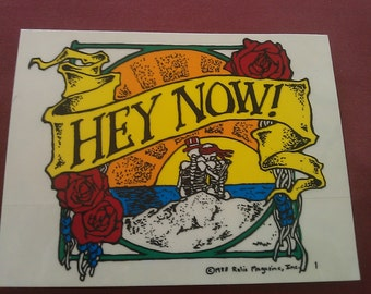 "Grateful Dead 'Hey Now' Skeleton Sam Bertha 5""x4"" Relix  STICKER DECAL"