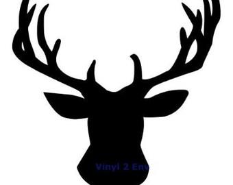 Deer Head Silhouette SVG File