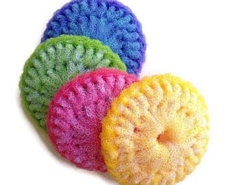 Pot Scrubber, 4 Large Pot Scrubbers,Dish Scrubber,Kitchen Dish Scrubbies,Crochet Pot Scrubber,Nylon Pot Scrubber,Kitchen Scrubber, Scrubbies