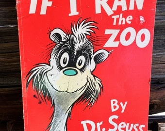 Vintage, Children's Book, If I Ran the Zoo, (1950),Hardcover, Books, Movies, Music, Dr Seuss, Collectible Book,Bedtime Stories