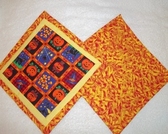 Halloween Quilted Potholder