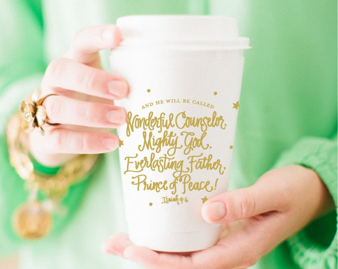 And He Shall Be Called ... Coffee Cup (Set of 10)