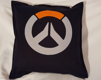 "Overwatch pillow cover - 20 x 20"" with zip, 100% cotton"