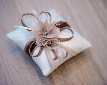 Ring pillow wedding pillow wedding rings ivory beige wedding decoration K6