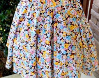 Plus Size Tsum Tsum Flared Circle Skirt (made to order)