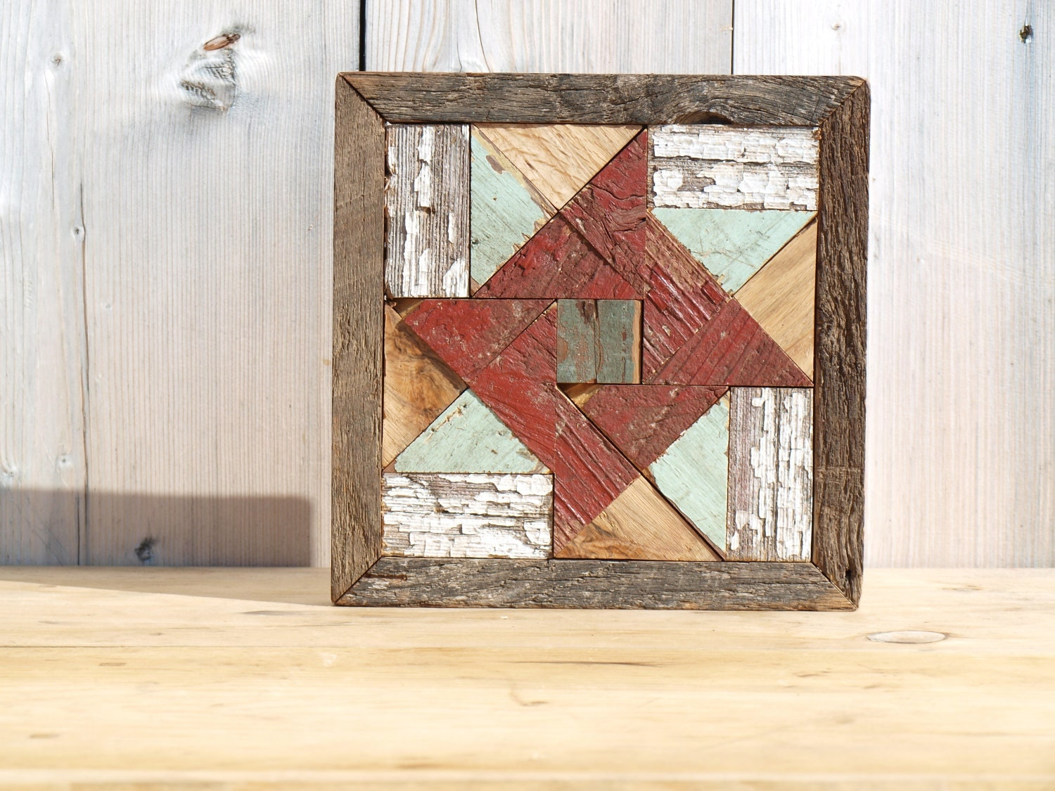 Wooden Barn Quilt Wall Quilt Hanging Salvaged Wood Art