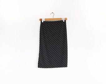 90s Ralph Lauren Polo Sport black and white stripe skirt with splits