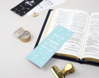 Bookmark - God is with her   Book markers   Christian Gift   Biblical Bookmark
