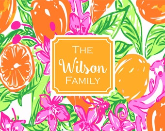 Personalized Cutting Board, Custom Tempered Glass Cutting Board, Preppy Print, Lily Inspired, Realtor Gift, New Homeowner, Hostess Gift