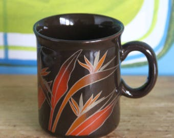 Crown Lynn Bird of Paradise Mug