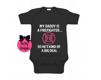 My Daddy Is A Firefighter Baby Bodysuit Or Toddler Shirt•Daddy Firefighter Shirt•Firefighter Youth Shirt•Fireman Shirt•Firefighter Kids