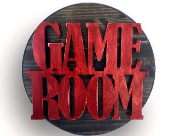 Game Room Sign, Game Room Decor