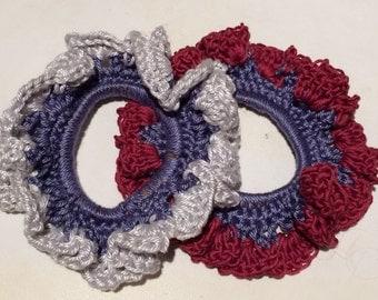 Crochet Scrunchie. Hair Tie. Crochet Ponytail band.