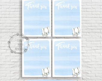 Elephant Baby Shower Thank you cards, Thank you cards, Elephant Baby Shower, Printable, Instant download