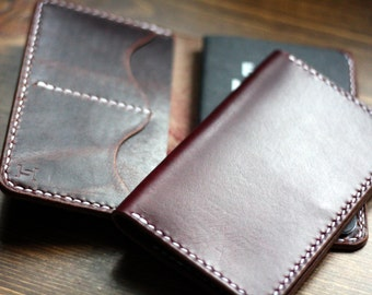 Field Notes Travel Wallet - Horween Burgundy Chromexcel and Chicago Tan Waxed Flesh Horsehide
