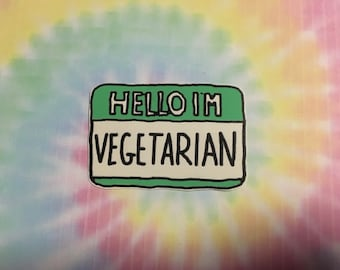 Hello I'm Vegetarian Sticker