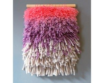 Ombre effect woven wall hanging
