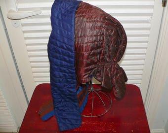 Antique 1850's 1860's Quilted Victorian Bonnet