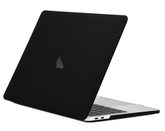 Rubberized Matte Hard Case Cover for MacBook Pro 13-inch A1706 / A1708 with / without Touch Bar ( Release Oct 2016 ) - Black