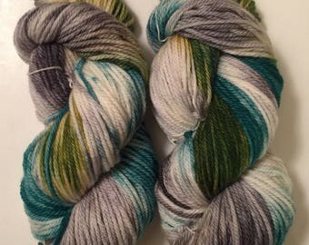 Hand Dyed Yarn Aran weight Worsted weight 100% superwash merino wool | 100 gr  | Super Soft |  Into the Woods  | Free shipping in the US