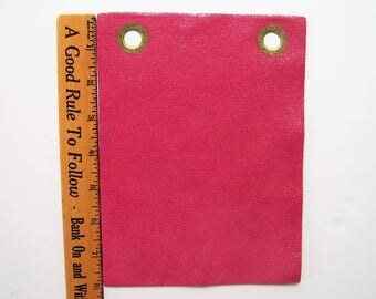 pink shimmery leather 6x8