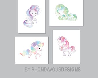 Unicorn Nursery Art. Unicorn Art. Girl Nursery Art. Unicorn Nursery Decor. Unicorn Bedroom Art. Unicorn Wall Art. Unicorn Picture. NS-822